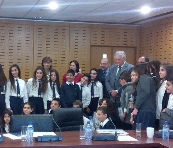 Cyprus-Nicosia-Kids at the Parliament