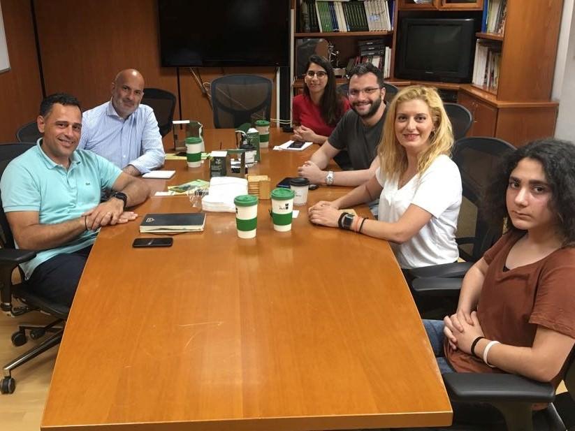 Η ομάδα για την Ώρα της Γης Κύπρου ενημερώνει την Εταιρεία Ζορπάς για την εκστρατεία μείωσης του πλαστικού ποτηριού μιας χρήσης